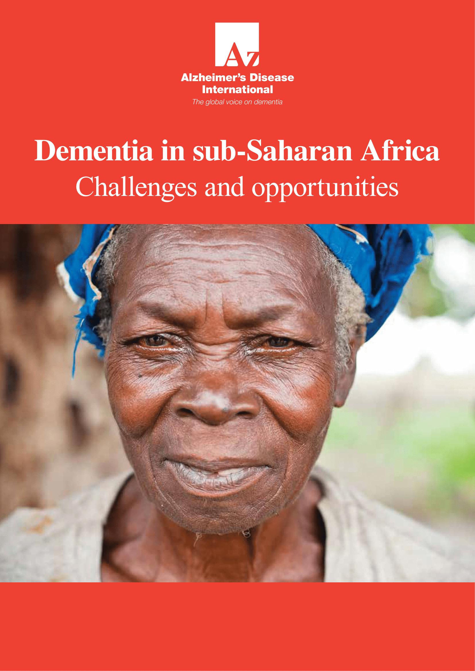 Dementia in sub-Saharan Africa Cover