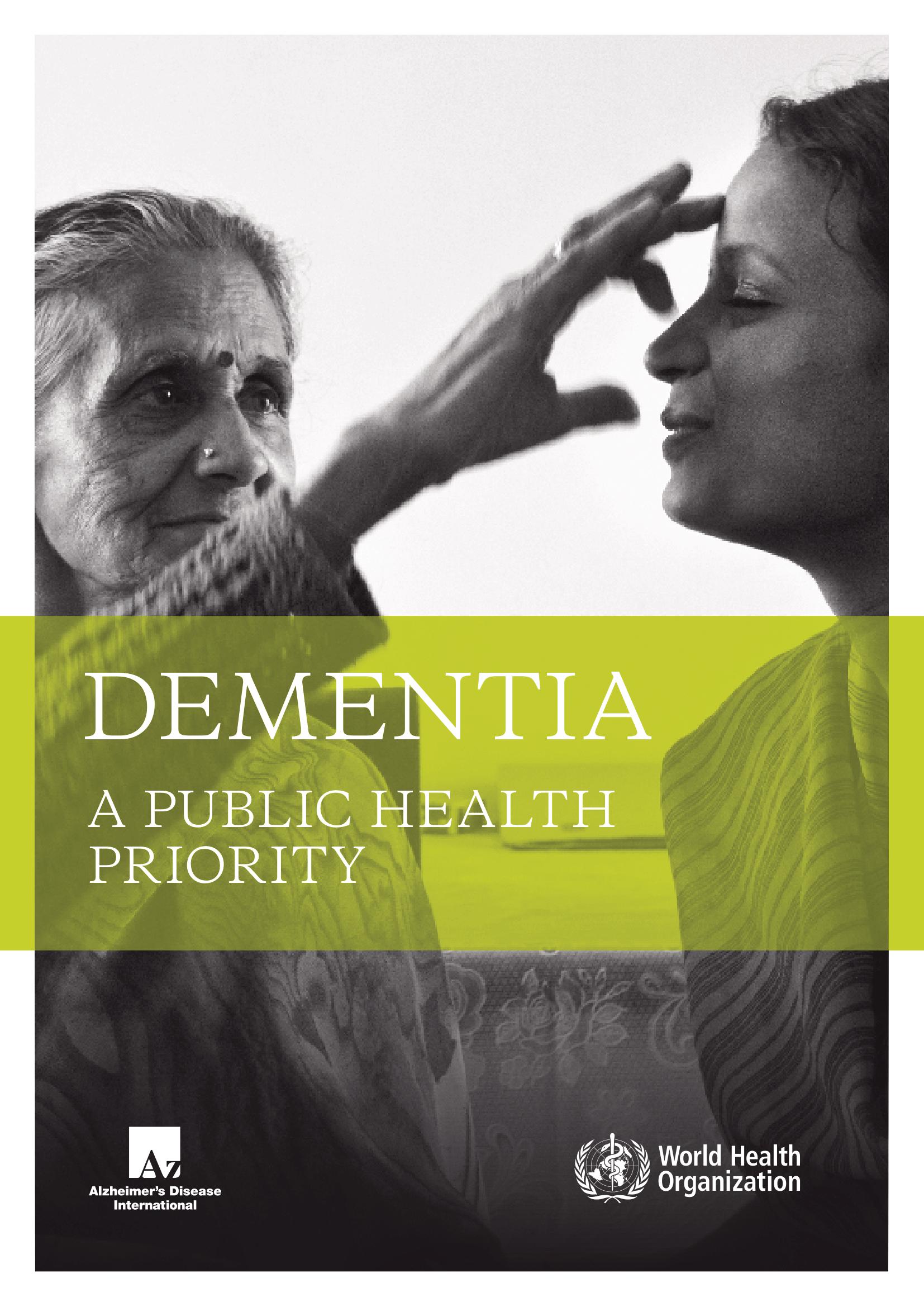 Dementia: A Public Health Priority Cover