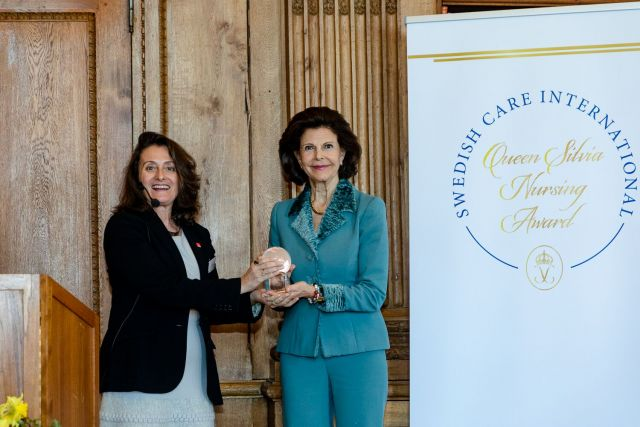 Paola Barbarino and Queen Silvia