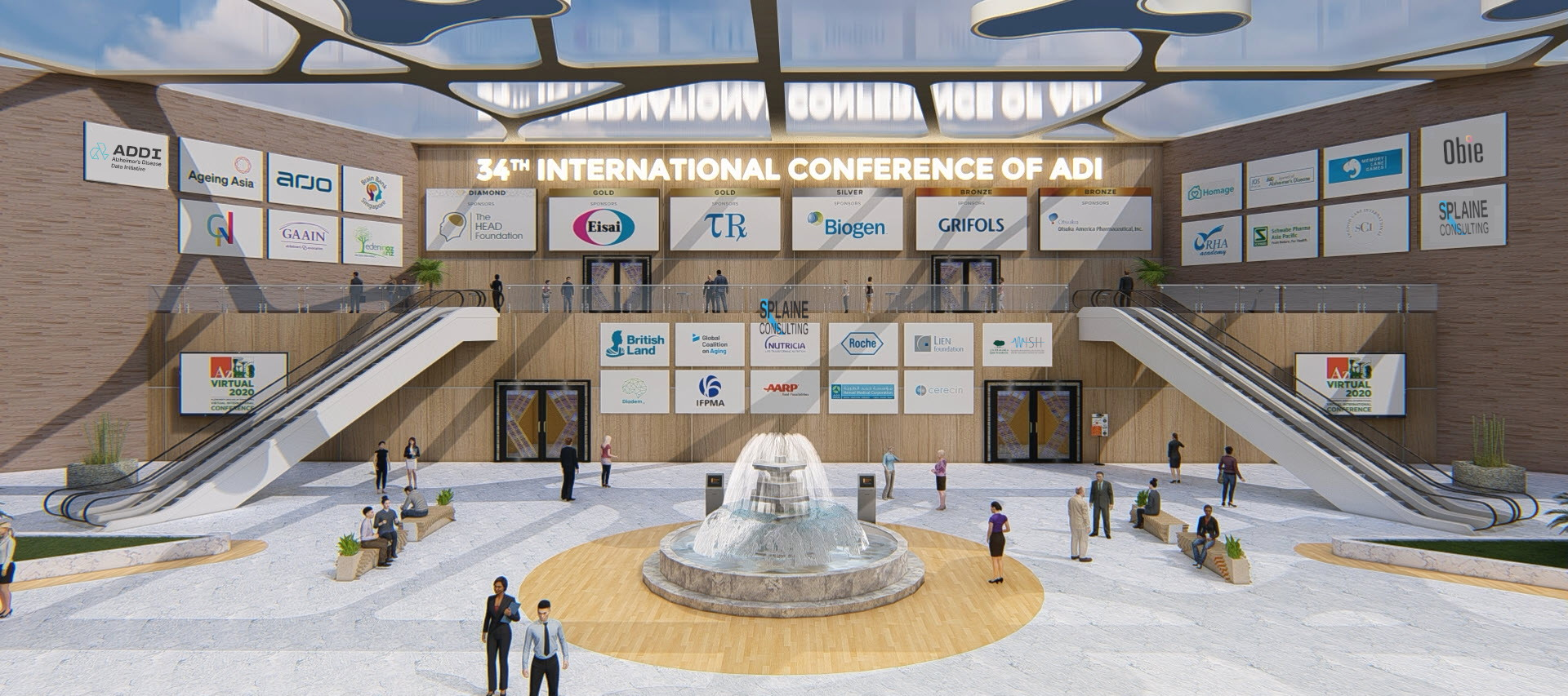 The virtual conference lobby of the 34th International Conference of ADI